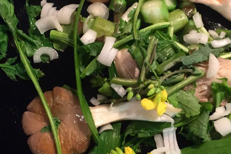 Shaved Baby Spring Vegetable Salad
