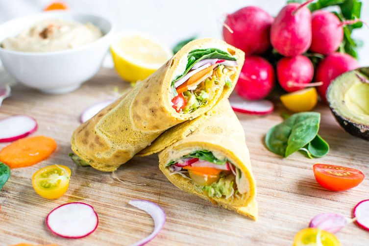 Moroccan Chickpea Wraps