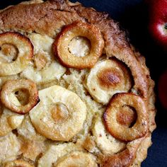 French-style Apple Custard Tart