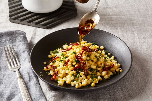 Fresh Corn Salad With Brown Butter, Chives & Chiles