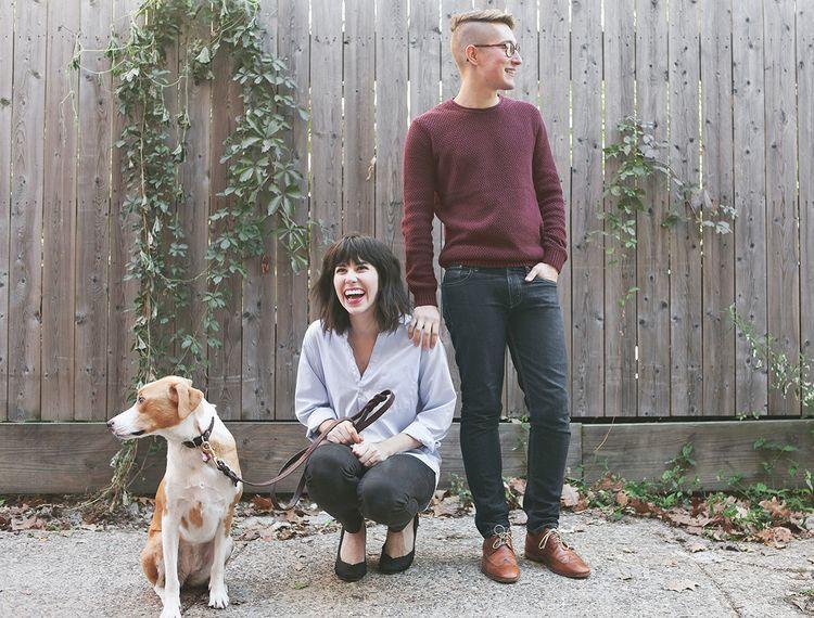 Jillian, Robert, and their pup Daisy.