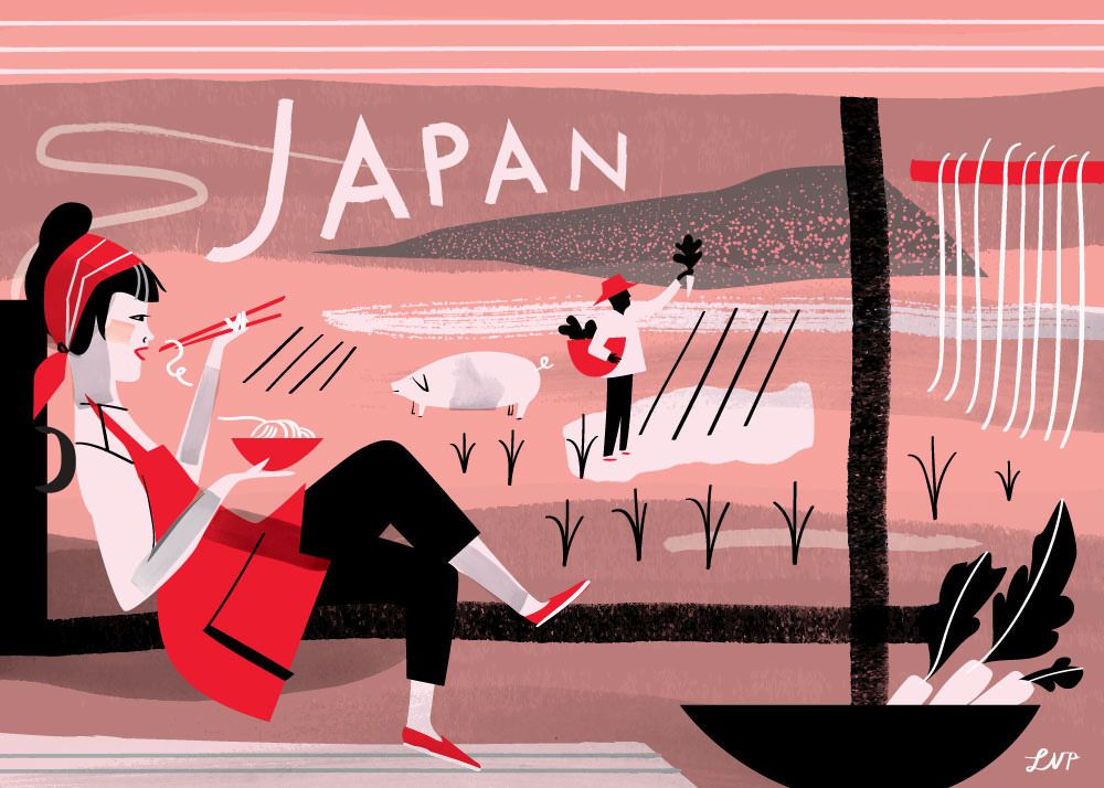 Japan Postcard by Libby VanderPloeg