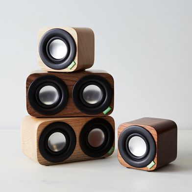 Portable Wood Speakers with Bluetooth