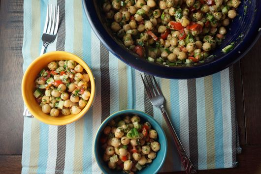 Chickpea Tabbouleh with Carrot Greens