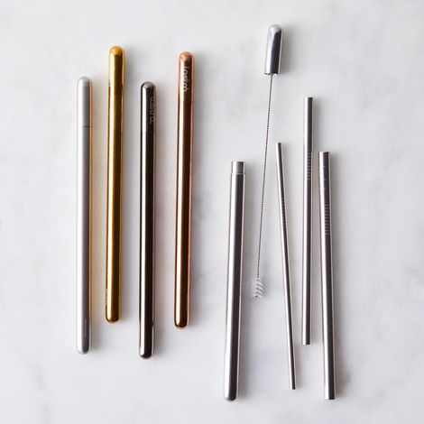 Metallic Straw Wand Set