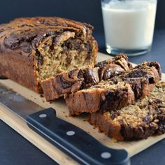 Banana Bread with Chocolate Swirl