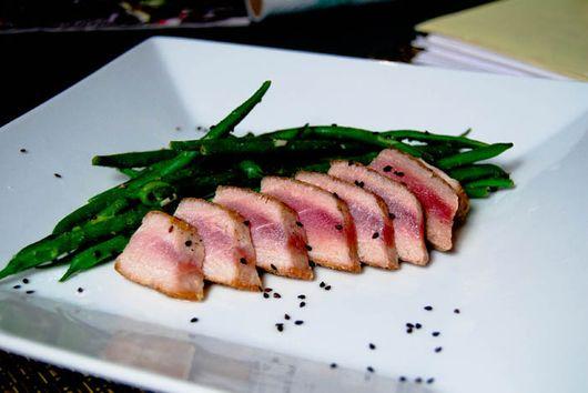 Seared Yellowfin Tuna with Haricot Verts