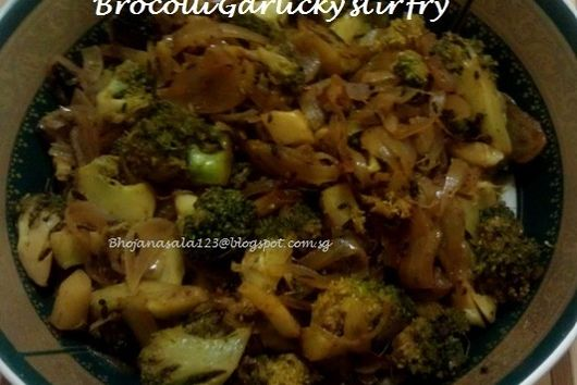 Brocolli Garlic stir fry