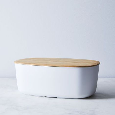 Modern Bread Box with Reversible Lid