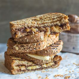 Grilled Banana Nutella Sandwich