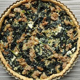 Sausage/Spinach Tart by Ruth Napier
