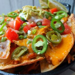 Smoke Stacked Korean Chicken Nachos