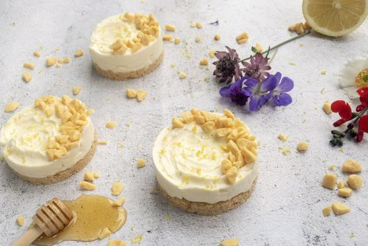 Lemon and Honey Cheesecakes