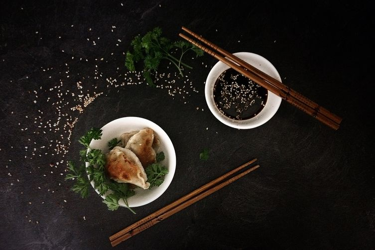 Ginger Dumplings with Beef, Garlic and Parsley
