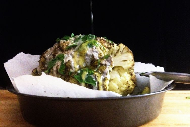 Mediterranean Whole Roasted Cauliflower