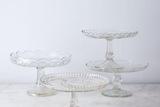 Vintage Found Glass Cake Stand