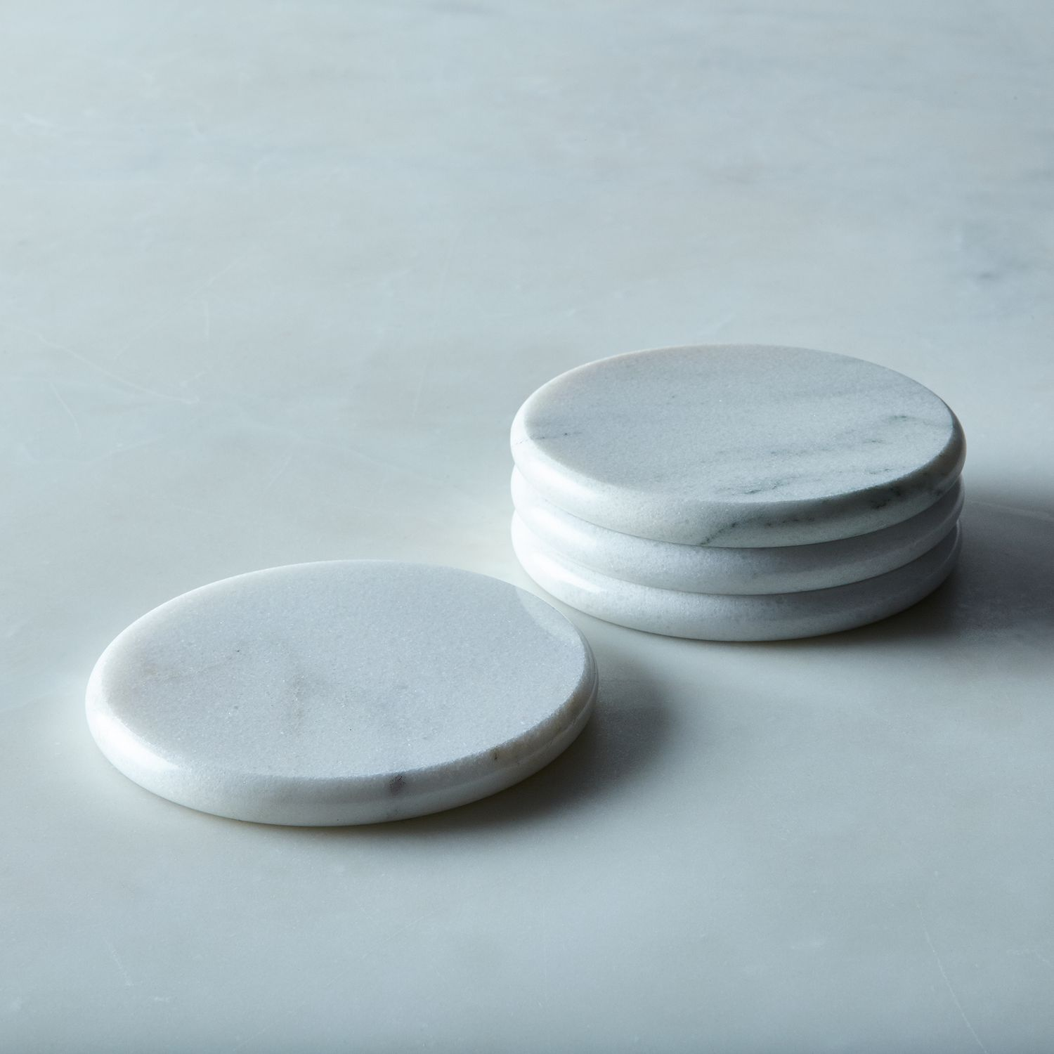 Round Vermont Marble Coasters Set Of 4 On Food52
