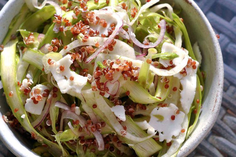 Shaved Fennel & Asparagus Quinoa Salad
