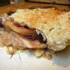Pear and Dried Fruit Honey Pie with Blue Cheese Crust