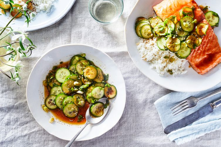Simple Korean Cucumber Salad