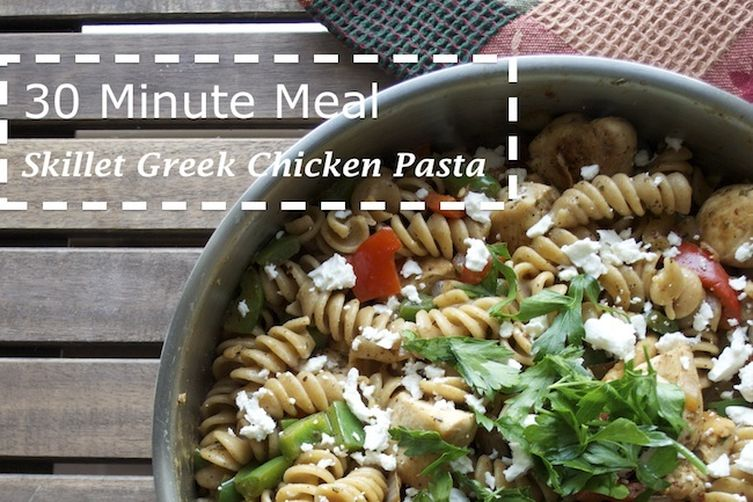 Skillet Greek Chicken Pasta