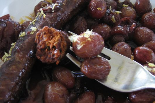 Roasted Merguez And Grapes