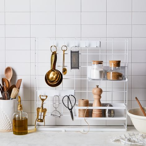 Stovetop Grid Organizer Panel & Storage Accessories