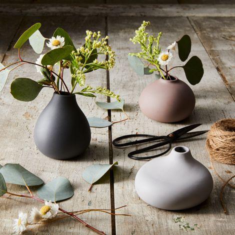 Mini Porcelain Vase Trio