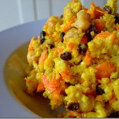 Curried Millet with Chickpeas and Currants