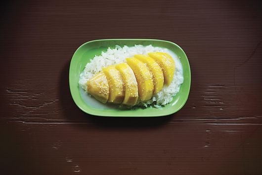 Pok Pok's Khao Niaw Mamuang (Sticky Rice with Mango and Salty-Sweet Coconut Cream)