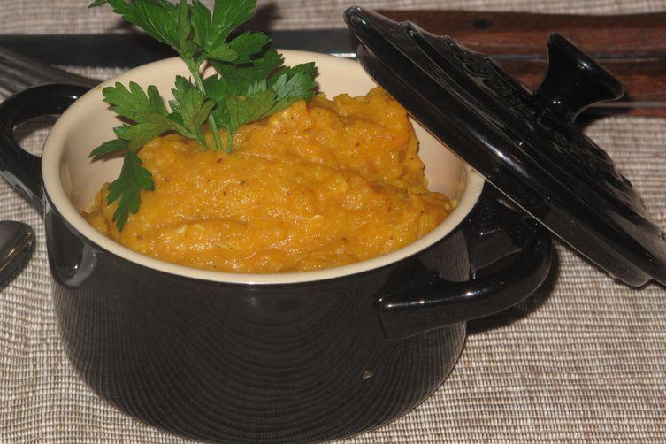 Cumin-scented puree of  Autumn 'oranges'