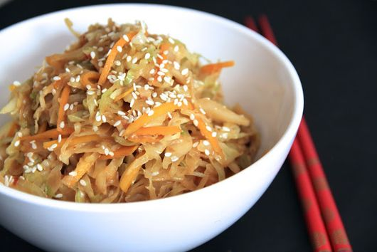 Stir-Fried Cabbage With Creamy Peanut Sauce