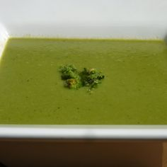 Romaine, Pea and Mint Soup with Sorrel Mint Pesto (Take 2)