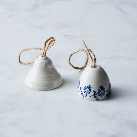 Ceramic Bell-Shaped Ornaments (Set of 3)