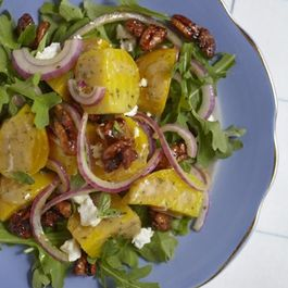 Beet and Feta Salad with Sweet & Spicy Roasted Pecans
