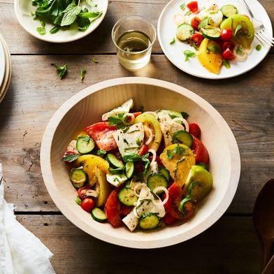 Tomato, Cucumber, and Fresh Herb Salad