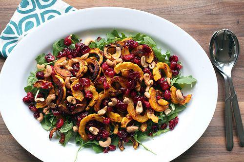 Delicata Squash and Cranberry Salad