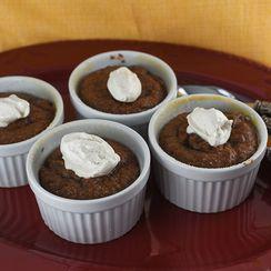 Individual Mocha Hazelnut Flourless Cakes