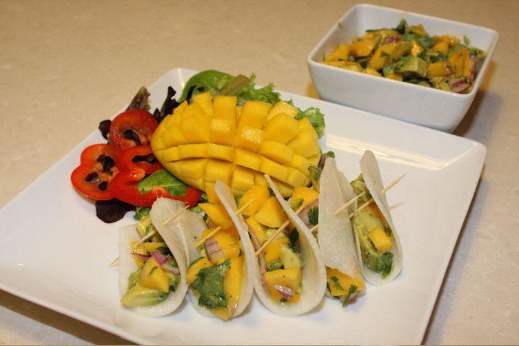 Mango Jicama Tacos