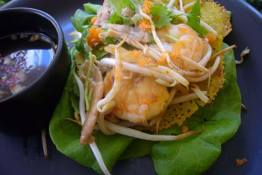 Bánh Xèo - Vietnamese Crepes with Nuoc Cham Dipping Sauce