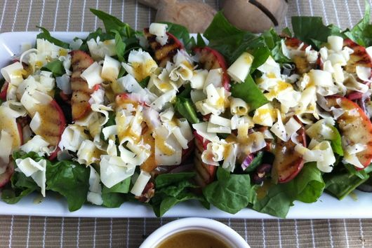 Grilled Apple Salad with Maple Mustard Vinaigrette