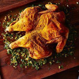 Pucker-Up Lemon Sumac Chicken with Lemon Herb Board Sauce