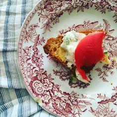 Tzatziki Toasts with Heirloom Tomatoes