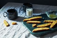 Lime Cornmeal Biscotti