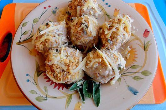 Swedish Meatballs in Walnut and Sage Alfredo Sauce