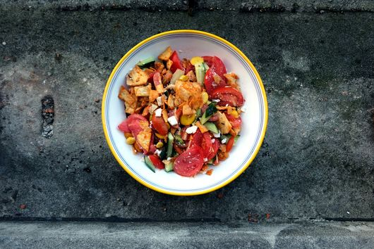 A Fancy and Beautiful Tomato, Cucumber, and Carrot Salad