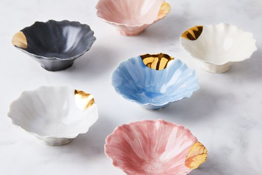 Gold-Dipped Pinch Bowls