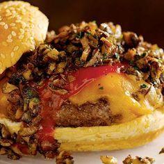 Wild Mushroom Cheeseburger with Chipotle Ketchup