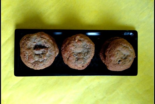 Candied Ginger Cocoa Nib Cookies with Nuts