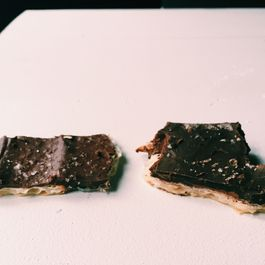 An Unwitting Chocolate-Covered Matzo Face-Off